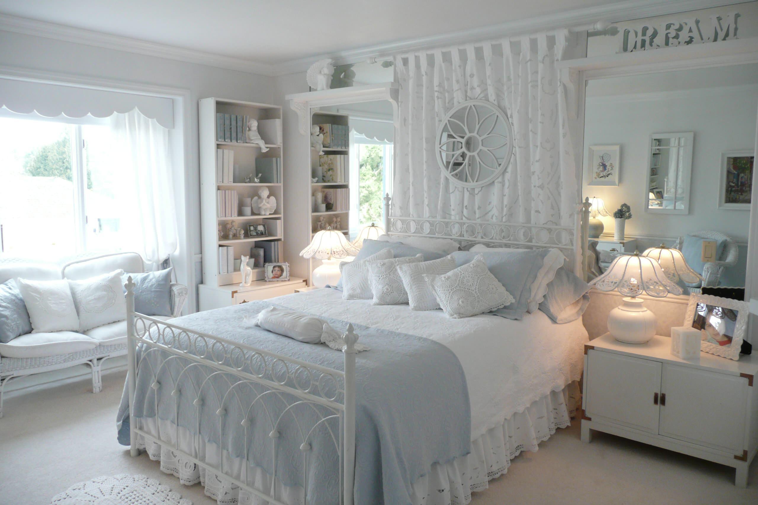 Шебби-шик в декоре спальни