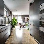 Расположение кухни в холле