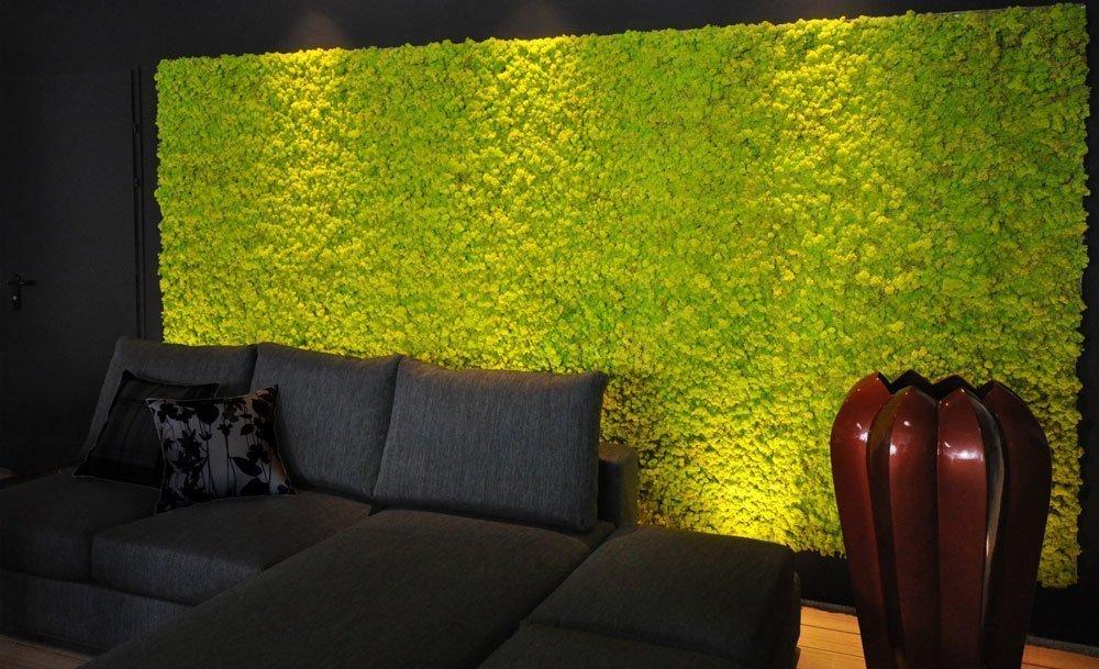 Стеновые панели из мха