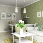 Зеленый декор стен