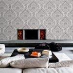 Декор стен для комнаты с камином