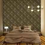 Коричневый декор спальни