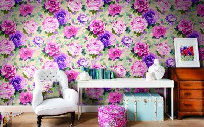 Обои с цветами +75 фото примеров в интерьере
