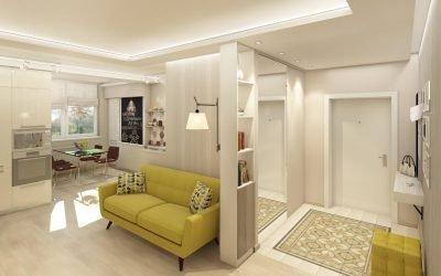 Прихожая совмещенная с гостиной: примеры дизайна