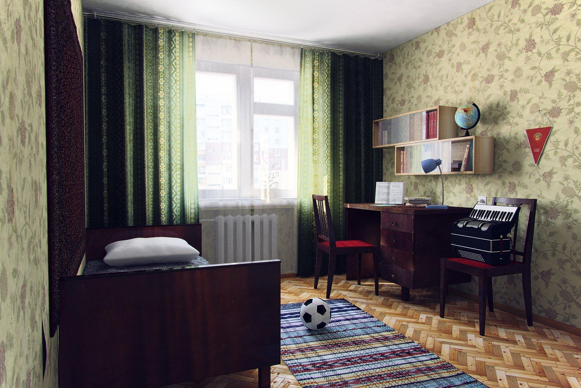 Советская спальня