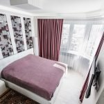 Фиолетовый цвет в спальне