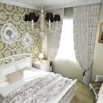 Классический декор маленькой спальни