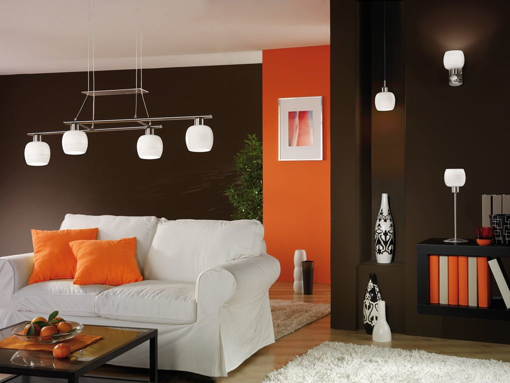 Lamps in the living room in modern style