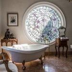 Витраж в ванной