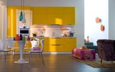 Желтый цвет в интерьере кухни — 5 советов и 75 фото примеров