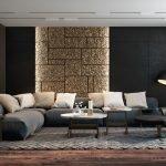 Декор стен черным с золотом