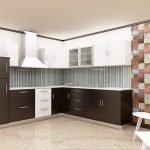 Контрастная стена на кухне