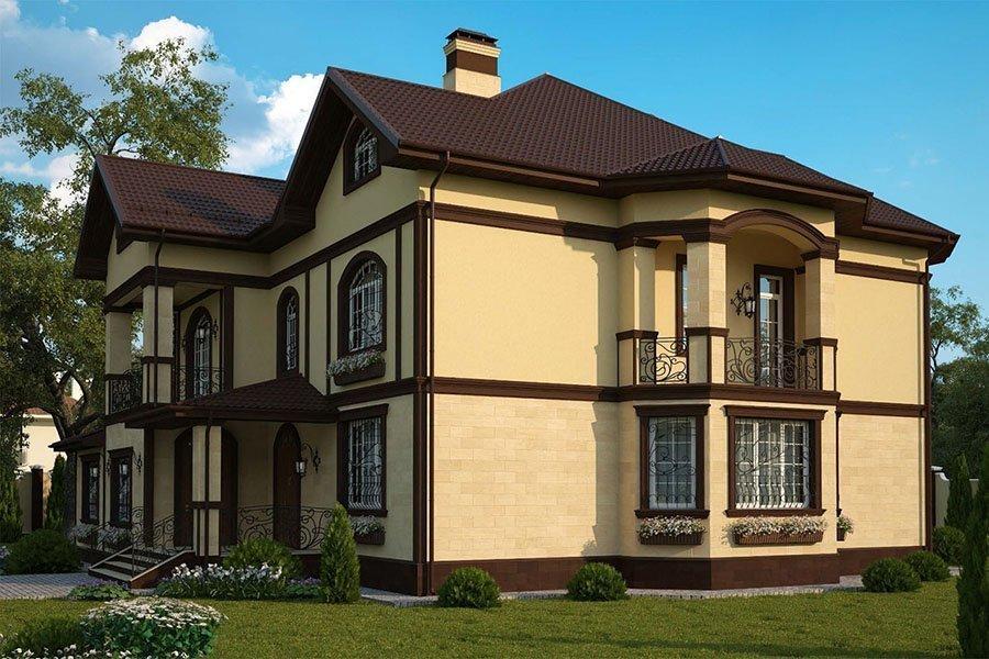 варианты штукатурки фасада дома