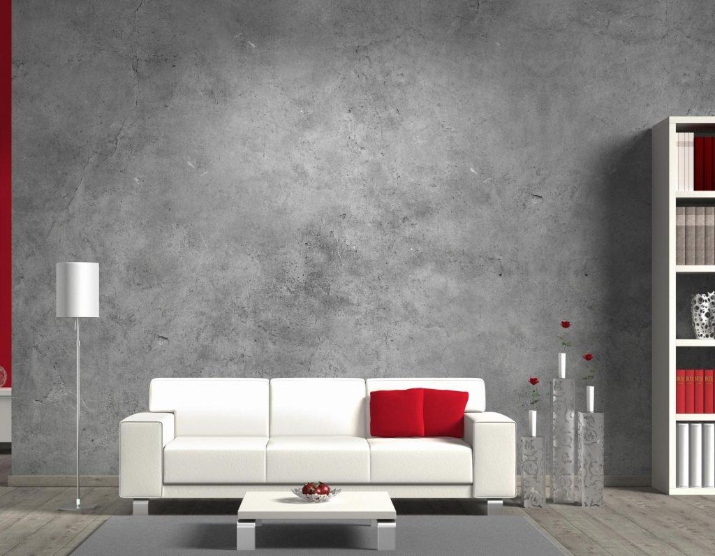 Декоративная штукатурка на стенах в интерьере