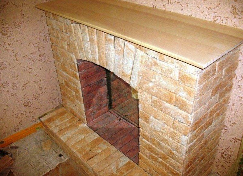 Декоративный камин из гипсокартона