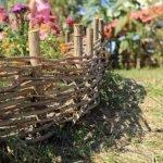 Плетенный забор на участке
