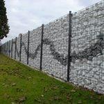 Забор из габионов на участке