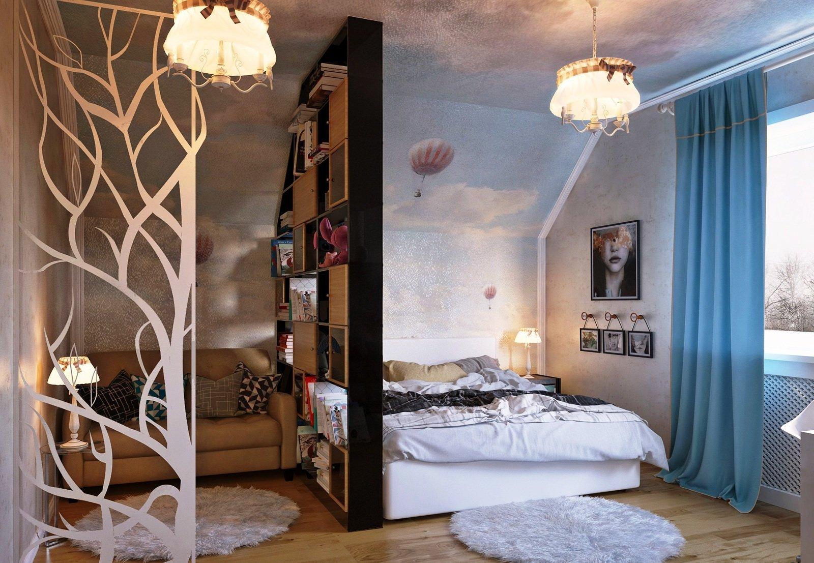 Зонирование спальни