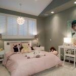Освещение в спальне для девочки