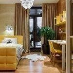 Желтая мебель в спальне