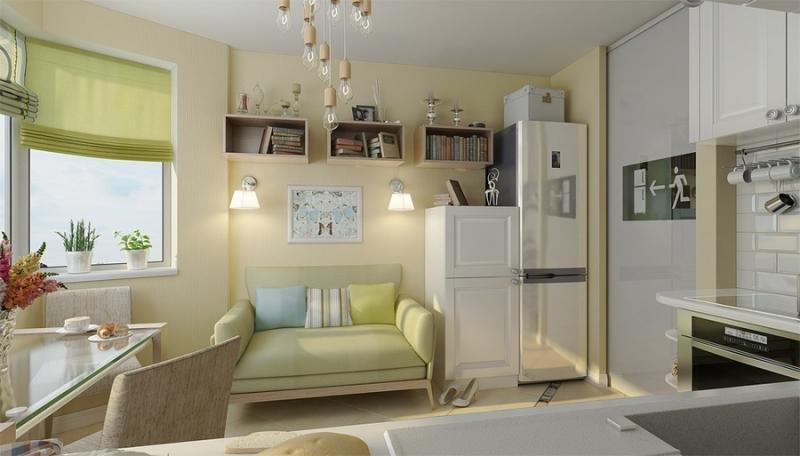 Интерьер двухкомнатной квартиры серии п44т