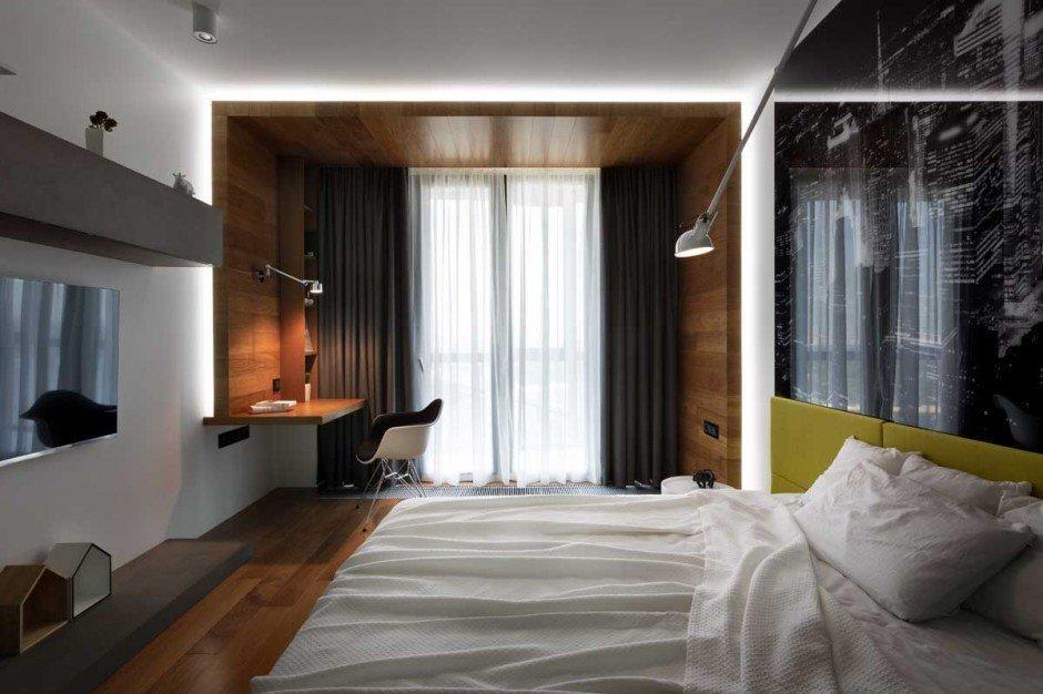 Интерьер спальни в евродвушке