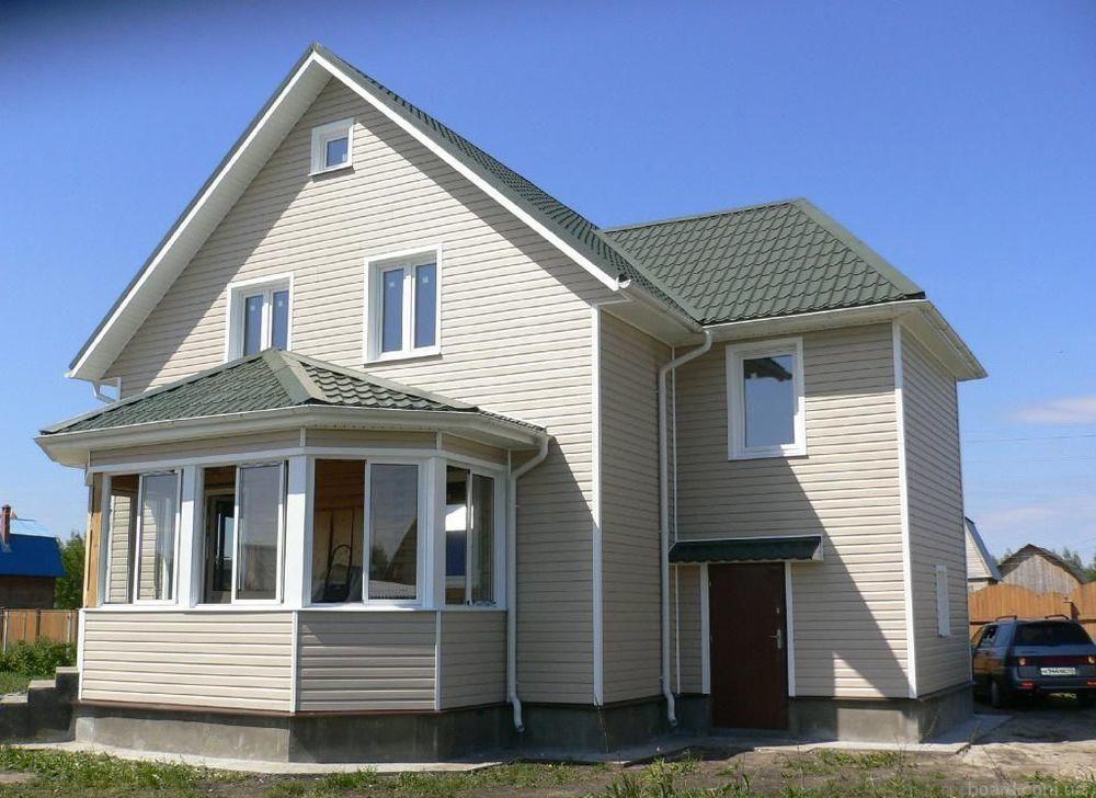 Дом с фасадом из сайдинга
