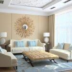 Эффектный дизайн комнаты в бежевом цвете