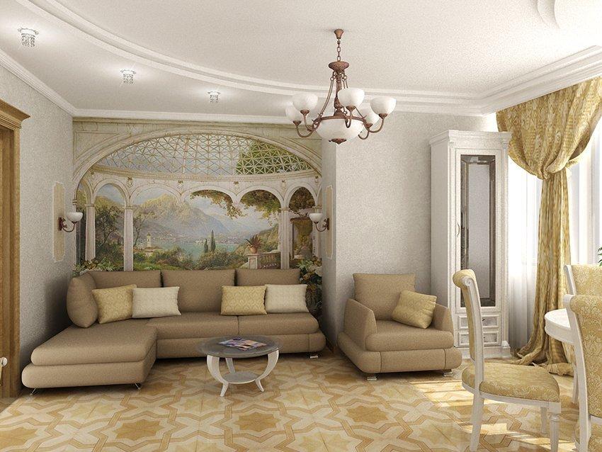 Классический декор зала
