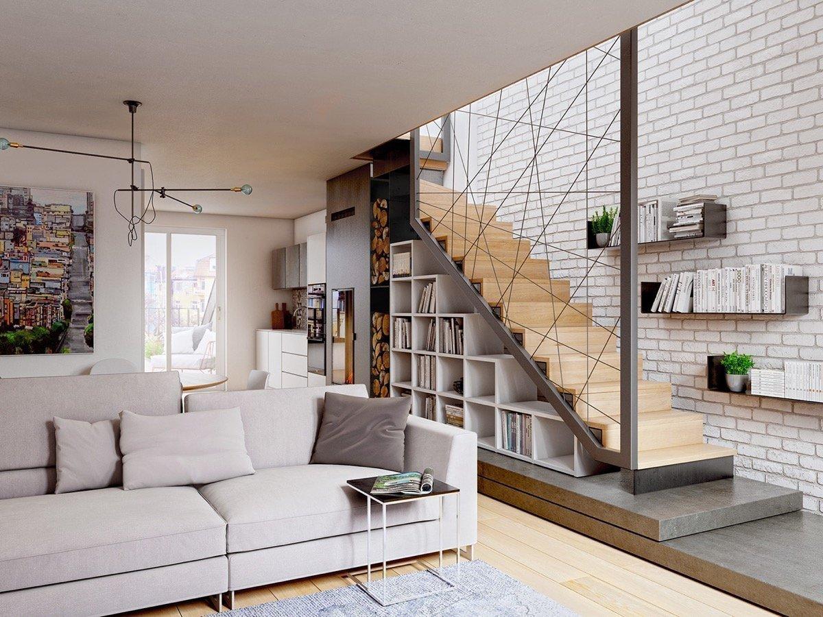 Стильный декор лестницы