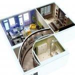 Квартира с тремя комнатами