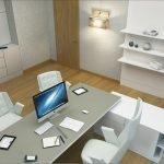 Белая мебель в комнате руководителя