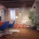 Loft style cottage interior