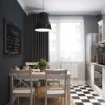 Черные стены в кухне
