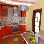 Сочные цвета в интерьере кухни