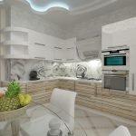 Кухонная мебель с фасадом под дерево