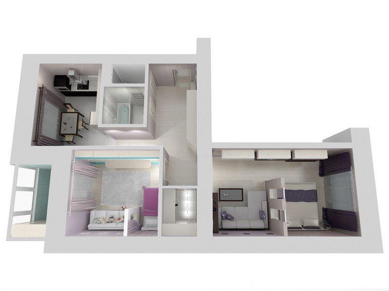 Дизайн-проект маленькой квартиры