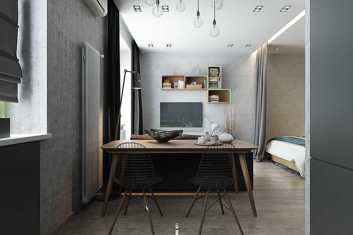Стиль лофт в небольшой квартире
