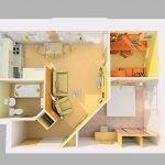 Перепланировка в небольшой квартире
