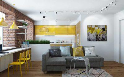 Дизайн квартиры 65 кв. м +75 фото идей интерьера