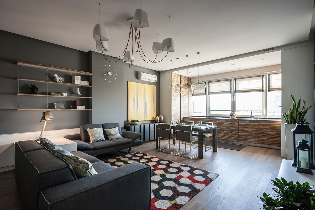 Дизайн двухкомнатной квартиры 65 кв м
