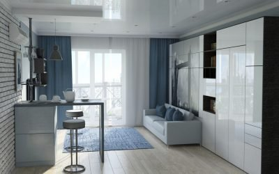 Варианты дизайна однокомнатной квартиры 33 м2