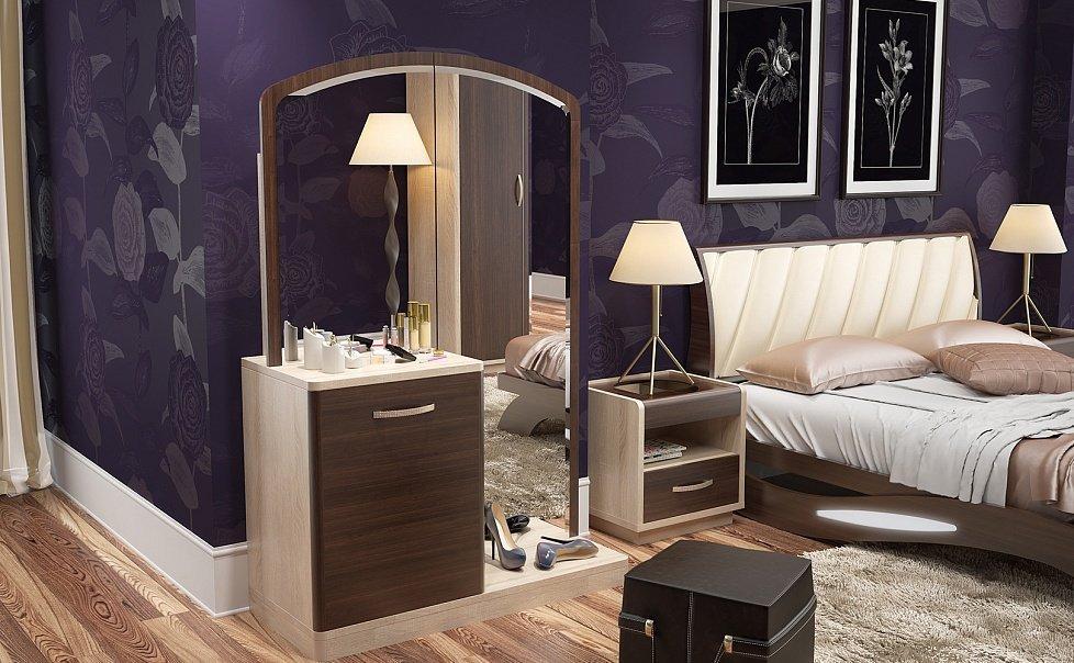 Декор в спальне в частном доме
