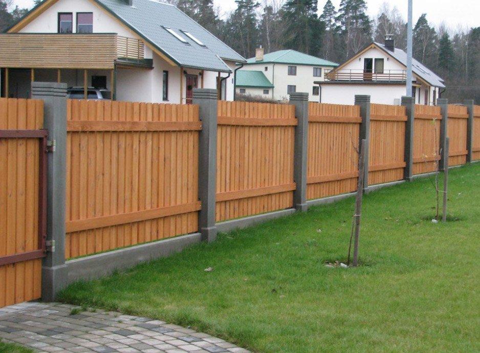 Забор на участке 12 соток