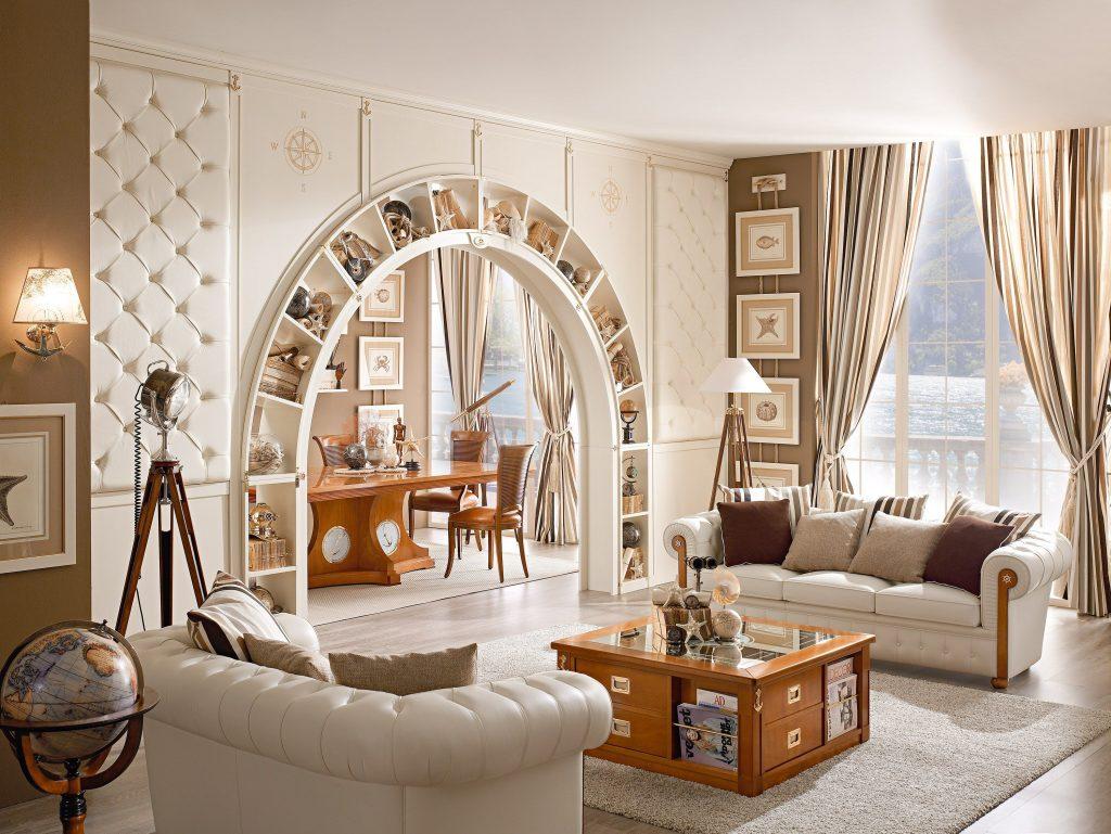 Сочетание арки со стилем комнаты