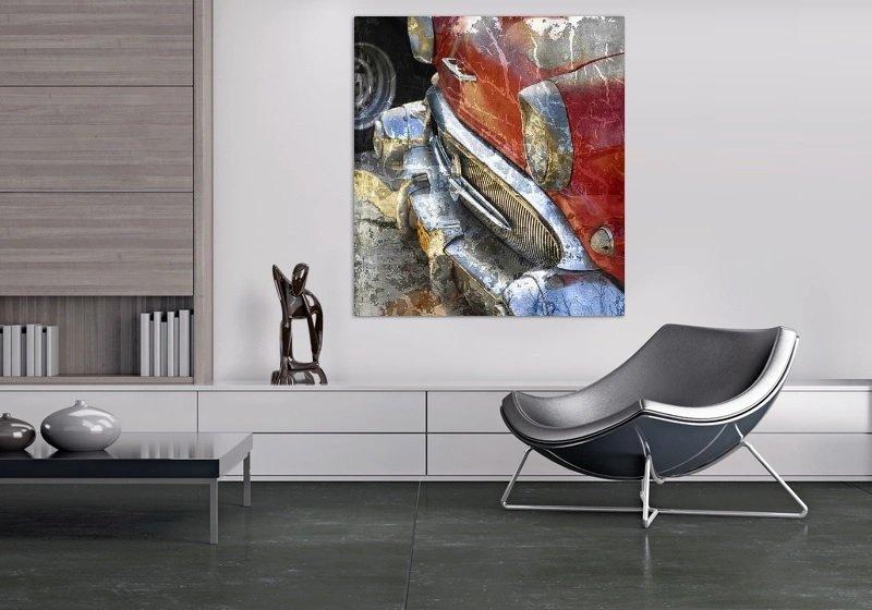 Интерьер в стиле минимализм с постером