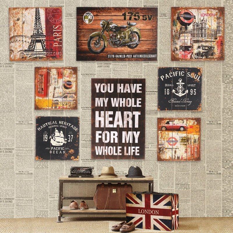 ретро плакаты в интерьере великобритании, бесплатно скачать