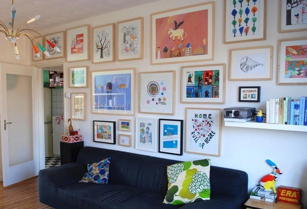 Личное творчество на стене в интерьере