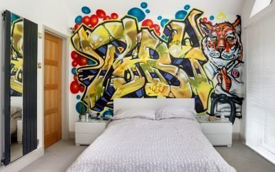 Виды и способы росписи стен в интерьере +75 фото