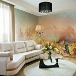 Лампа на полу у дивана